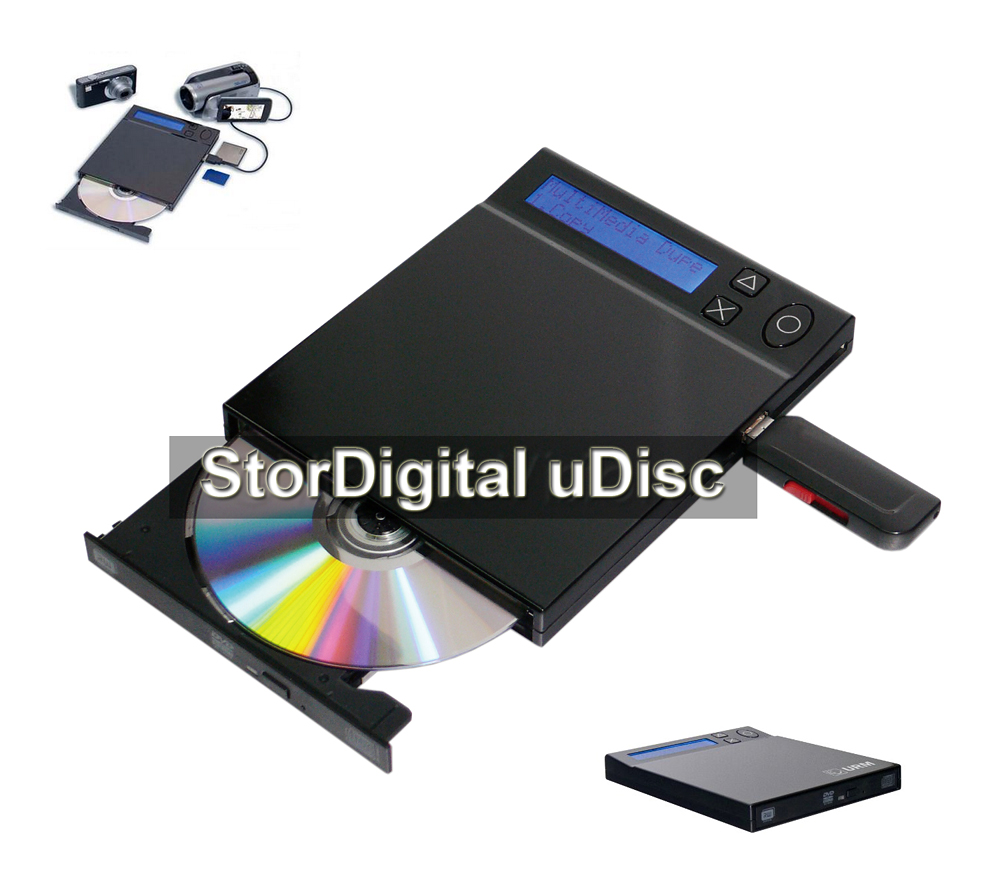 New from StorDigital Systems, uDisc portable Flash to Disc copier